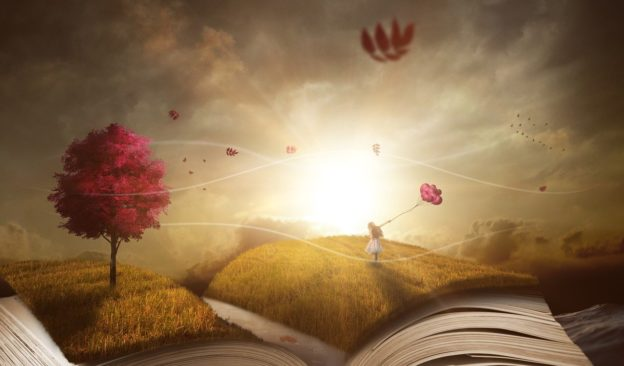 a book, landscape, nature